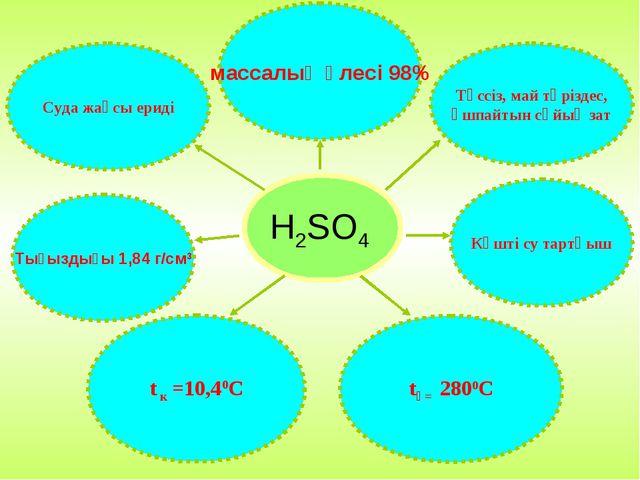 H2SO4 Суда жақсы ериді массалық үлесі 98% Түссіз, май тәріздес, ұшпайтын сұйы...