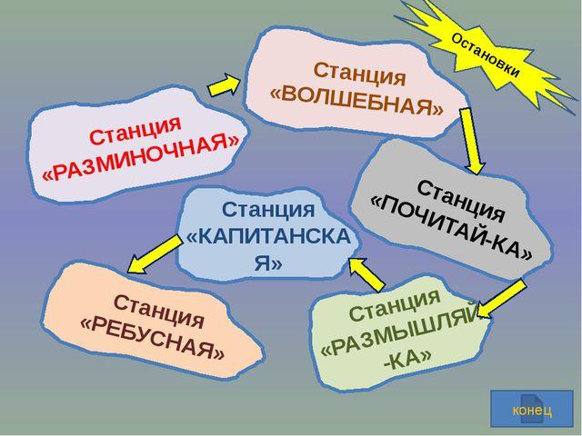 СТАНЦИЯ «РАЗМЫШЛЯЙ-КА» 1…2…3…4…5…6…7 =8