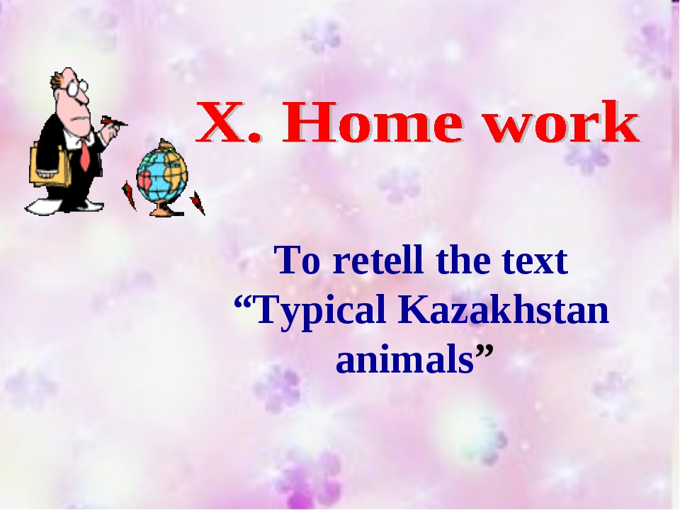 "To retell the text ""Typical Kazakhstan animals"""