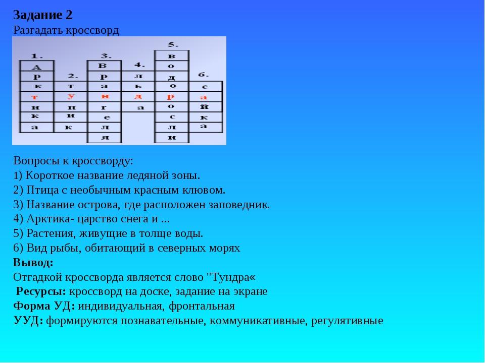 Задание 2 Разгадать кроссворд Вопросы к кроссворду: 1) Короткое название лед...