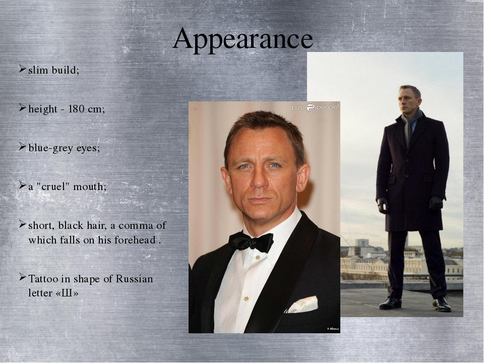 "Appearance slim build; height - 180 cm; blue-grey eyes; a ""cruel"" mouth; shor..."