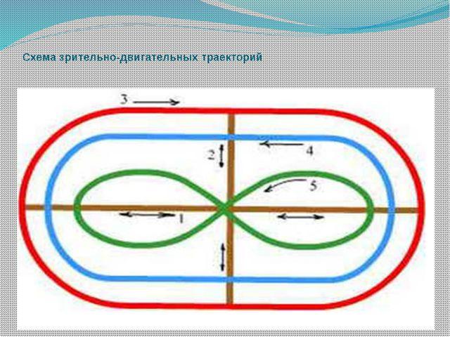 Схема зрительно-двигательных траекторий