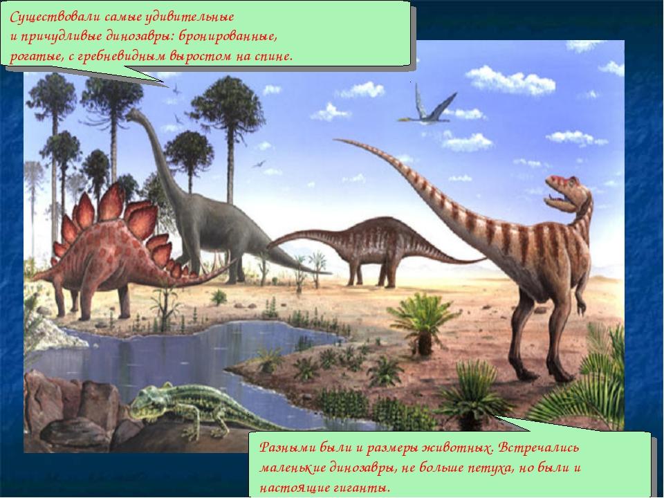 Существовали самые удивительные и причудливые динозавры: бронированные, рогат...