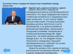 Послание Главы государства Нурсултана Назарбаева народу Казахстана Казахстанс