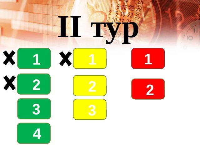 II тур 1 2 3 4 1 2 3 1 2