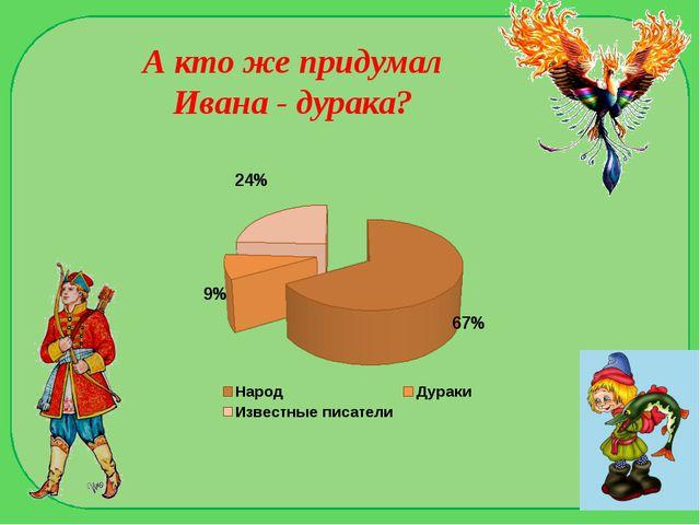 А кто же придумал Ивана - дурака?