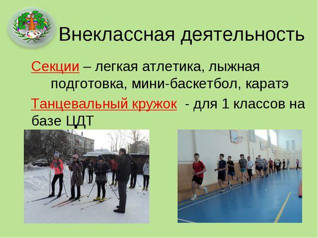 Внеклассная деятельность Секции – легкая атлетика, лыжная  подготовка, мин...