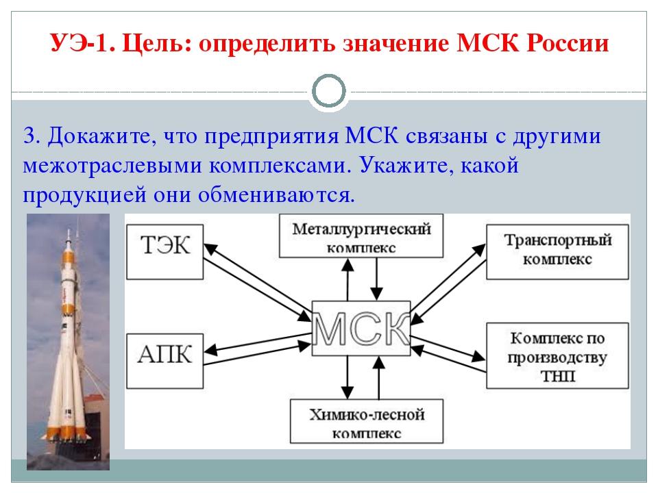 3. Докажите, что предприятия МСК связаны с другими межотраслевыми комплексами...