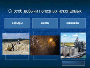 Способ добычи полезных ископаемых карьеры шахты скважины Глина Гранит Известн