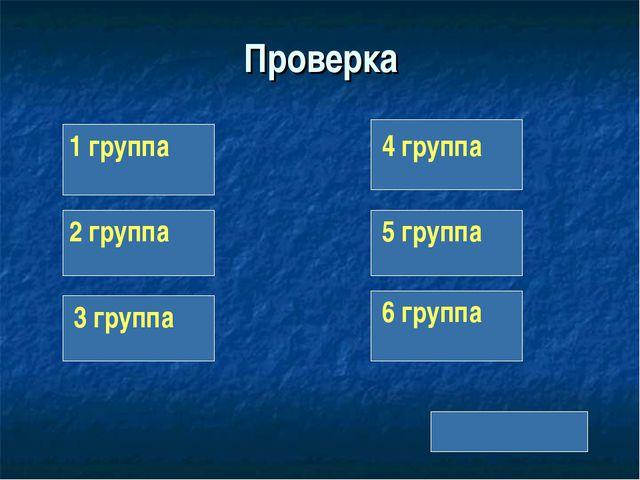 Проверка 1 группа 2 группа 3 группа 4 группа 5 группа 6 группа