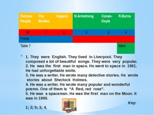 1. They were English. They lived in Liverpool. They composed a lot of beautif