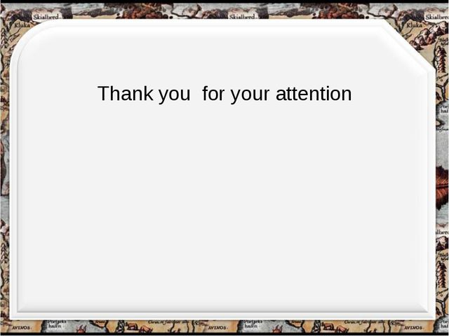 Thank you for your attention http://aida.ucoz.ru