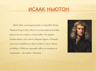 Обидчивый, маленького роста и плаксивый Исаак Ньютон в школе был одним из са