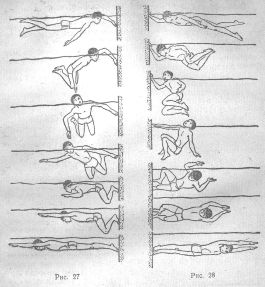 Плавание. Техника поворотов при плавании кролем на груди