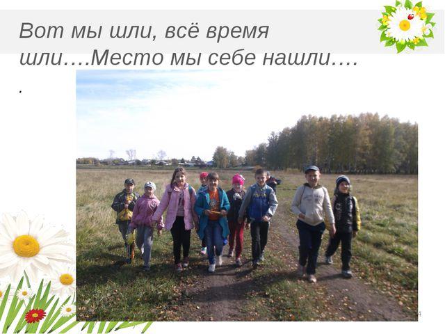М Вот мы шли, всё время шли….Место мы себе нашли…. . *