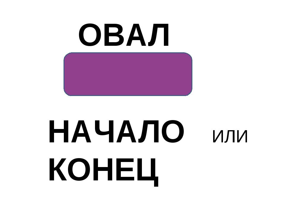ОВАЛ НАЧАЛО ИЛИ КОНЕЦ