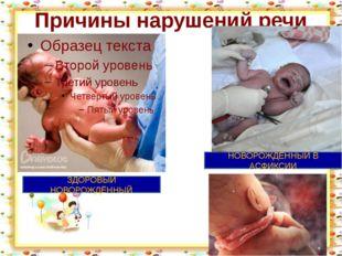Причины нарушений речи http://aida.ucoz.ru ЗДОРОВЫЙ НОВОРОЖДЁННЫЙ НОВОРОЖДЁНН