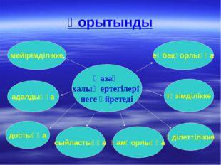 Қорытынды Қазақ халық ертегілері неге үйретеді еңбекқорлыққа әділеттілікке қа