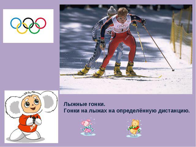 Лыжные гонки. Гонки на лыжах на определённую дистанцию.