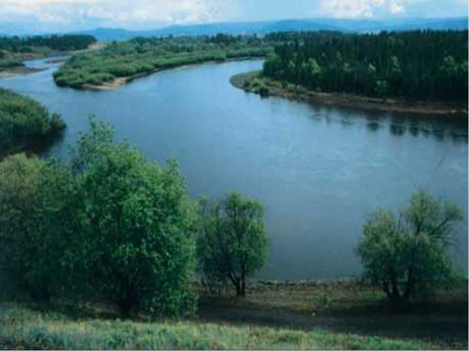 Вода из родника течет тонким ручьем. Ручьи по пути сливаются, становятся шире...