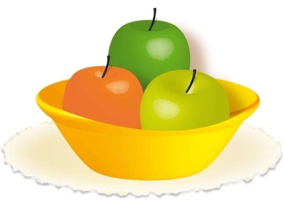 3D Тарелка с яблоками - Demiart