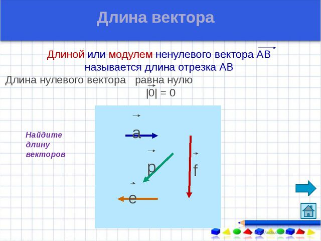 Назовите коллинеарные векторы сонаправленные векторы противоположно направле...