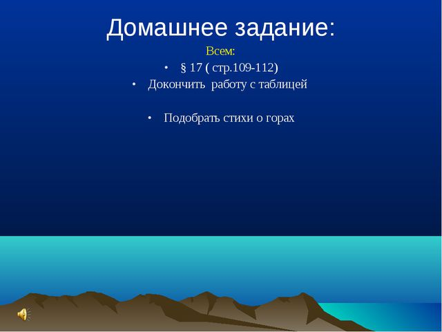 Домашнее задание: Всем: § 17 ( стр.109-112) Докончить работу с таблицей Подоб...