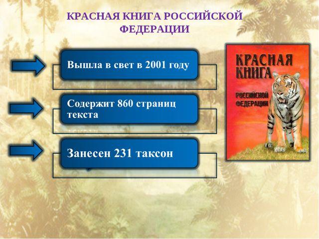 КРАСНАЯ КНИГА РОССИЙСКОЙ ФЕДЕРАЦИИ