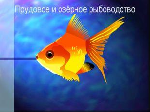 Прудовое и озёрное рыбоводство