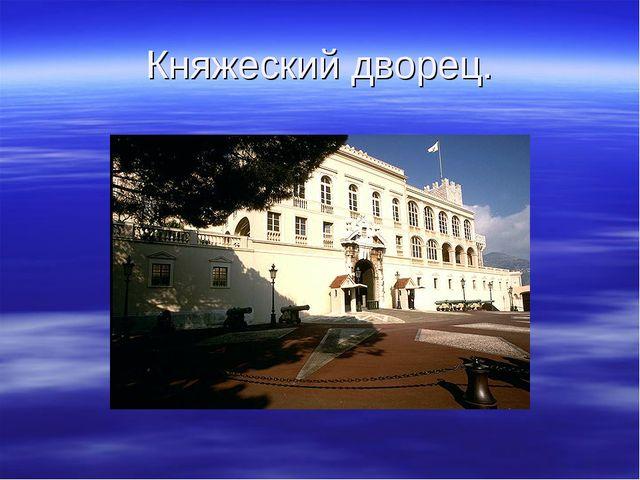 Княжеский дворец.
