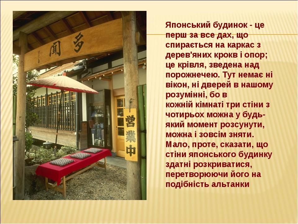 Японський будинок - це перш за все дах, що спирається на каркас з дерев'яних...