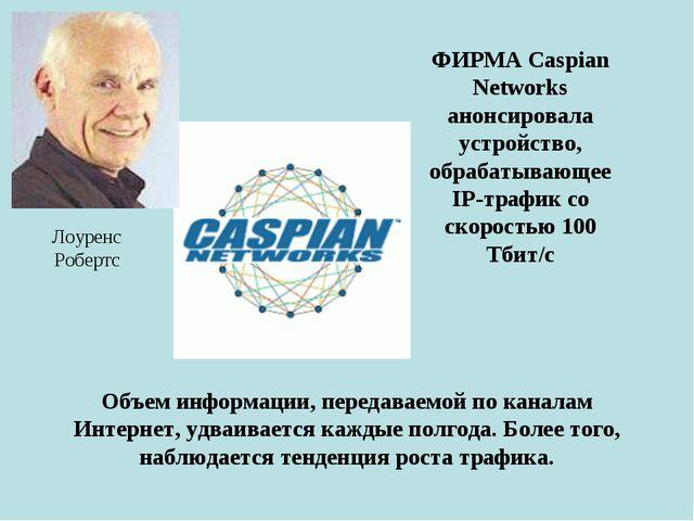 ФИРМА Caspian Networks анонсировала устройство, обрабатывающее IP-трафик со с...