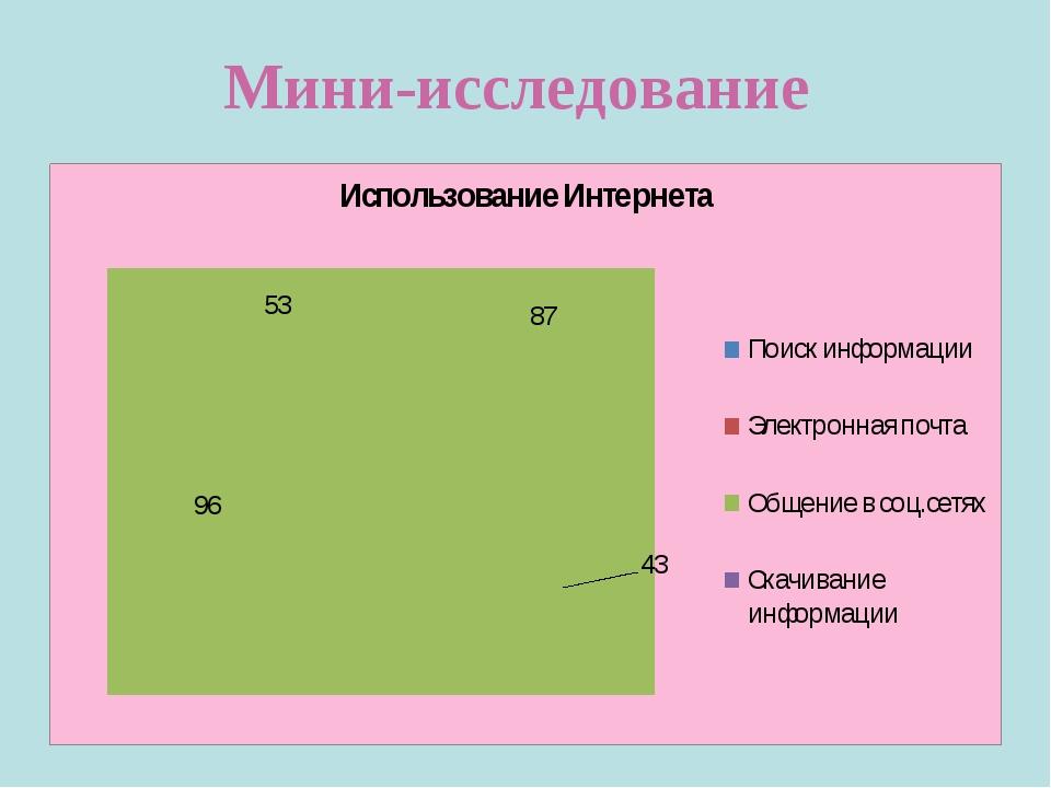 Мини-исследование