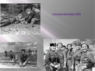 Советские партизаны в ВОВ