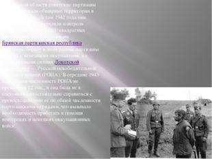 В Брянской области советские партизаны контролировали обширные территории в н