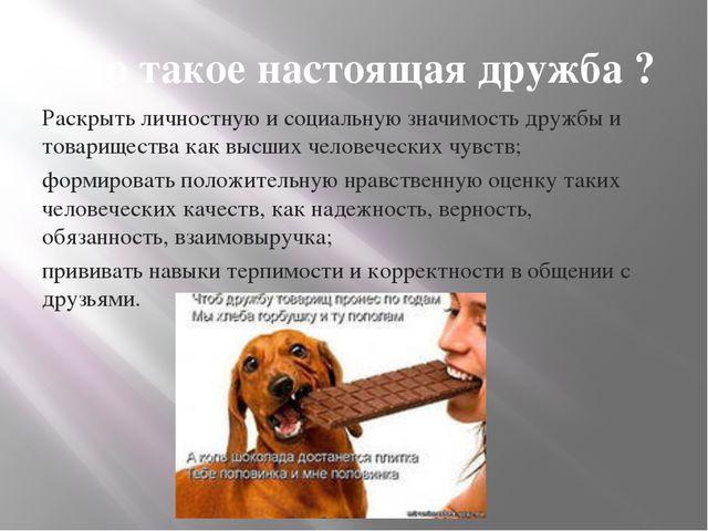 Раскрыть личностную и социальную значимость дружбы и товарищества как высших...