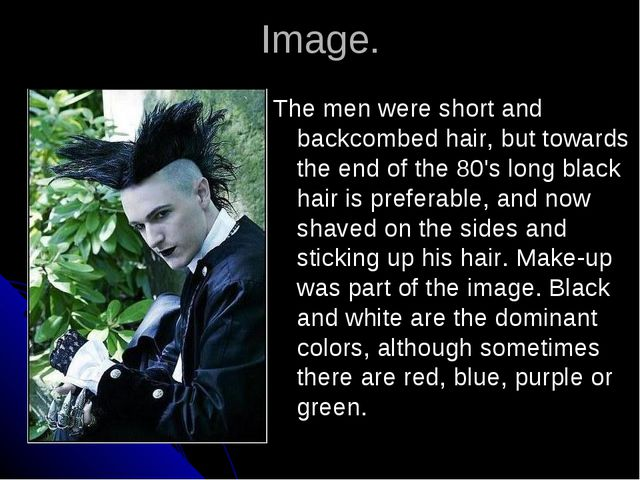 Image. The men were short and backcombed hair, but towards the end of the 80'...