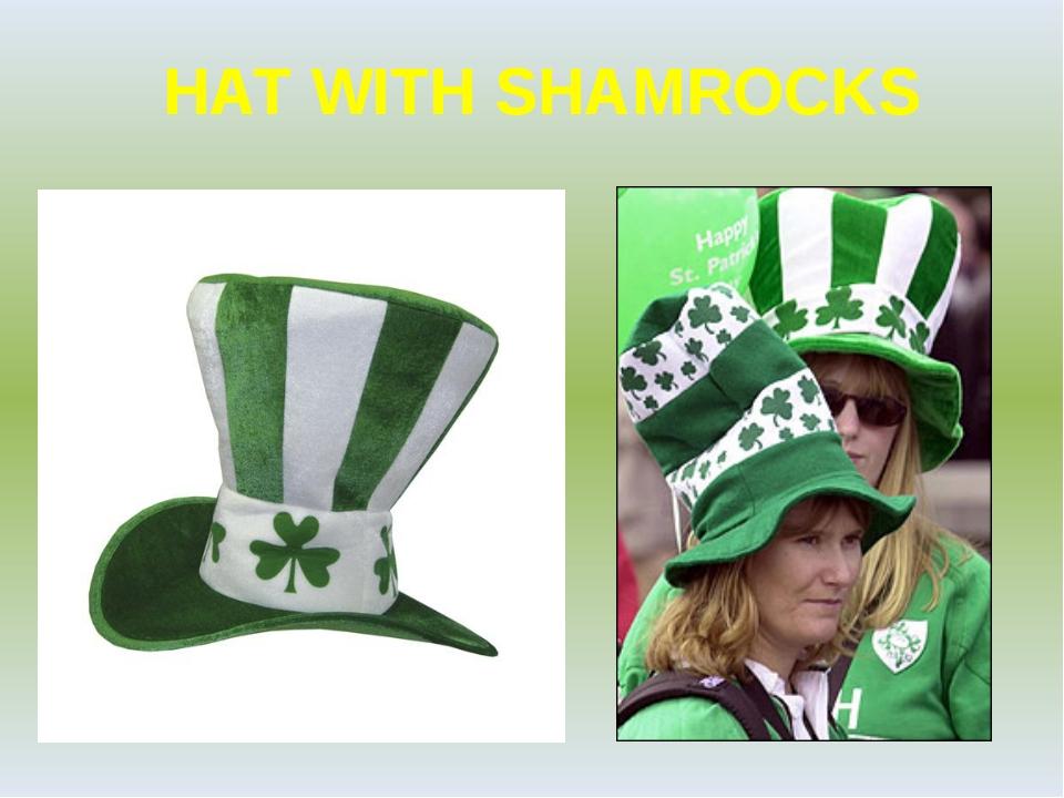 HAT WITH SHAMROCKS