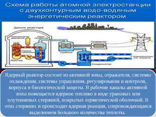 Ядерный реактор состоит из активной зоны, отражателя, системы охлаждения, сис