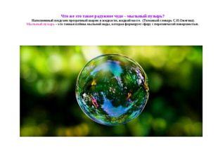 Что же это такое радужное чудо – мыльный пузырь? Наполненный воздухом прозрач