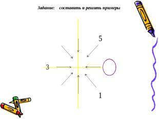 Задание: составить и решить примеры