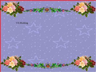 VII.Marking