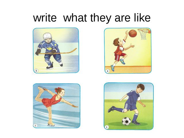 write what they are like