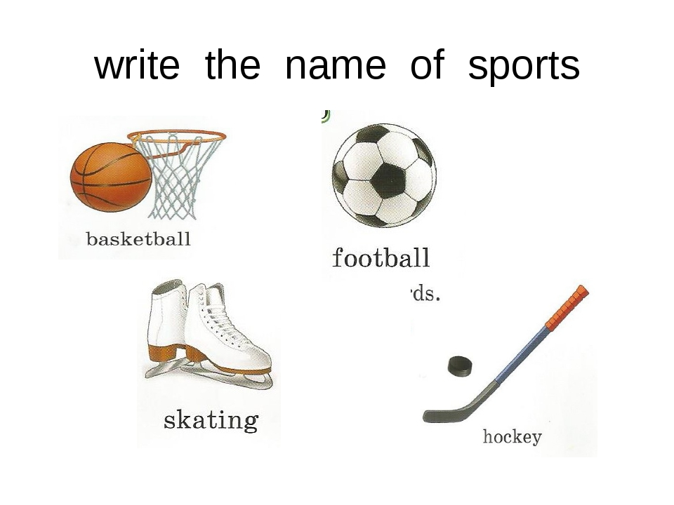 write the name of sports