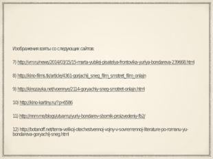Изображения взяты со следующих сайтов: 7) http://vm.ru/news/2014/03/15/15-mar