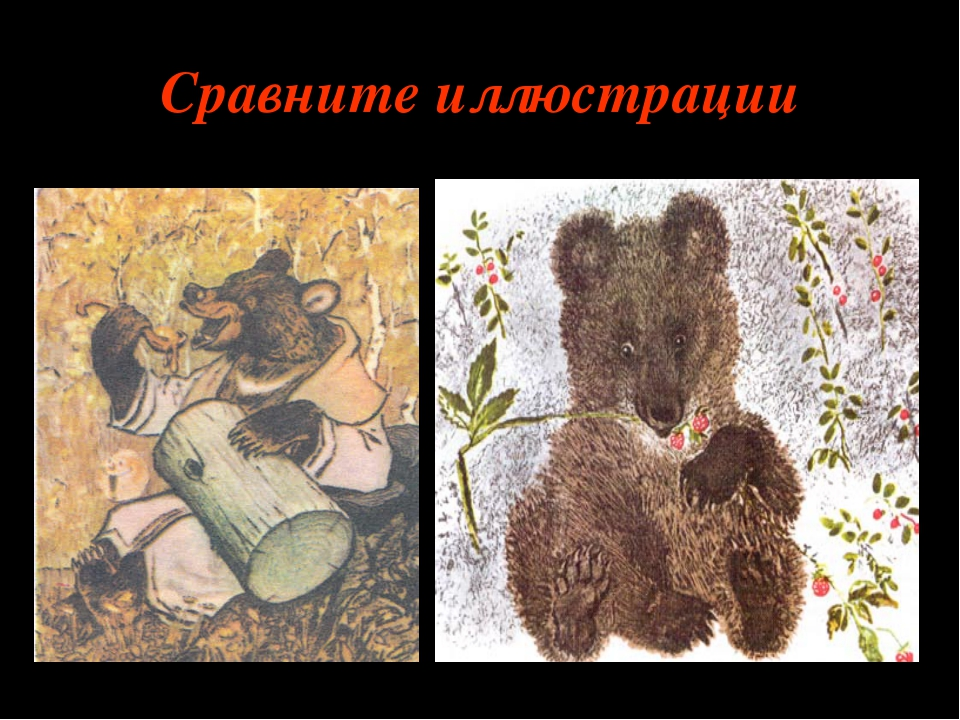 Сравните иллюстрации