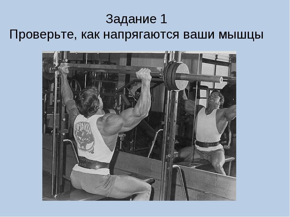 Задание 1 Проверьте, как напрягаются ваши мышцы