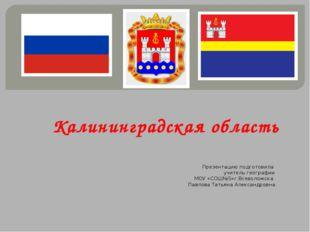 Калининградская область Презентацию подготовила учитель географии МОУ «СОШ№5»