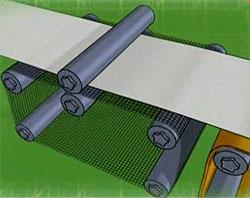 Описание: Сетка бумагоделательной машины