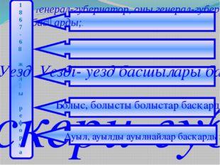 Генерал-губернатор, оны генерал-губернатор басқарды;. 1 8 6 7 - 6 8 ж ы л ғ